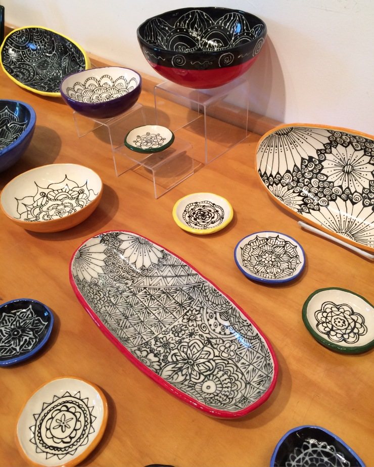 handprinted ceramics